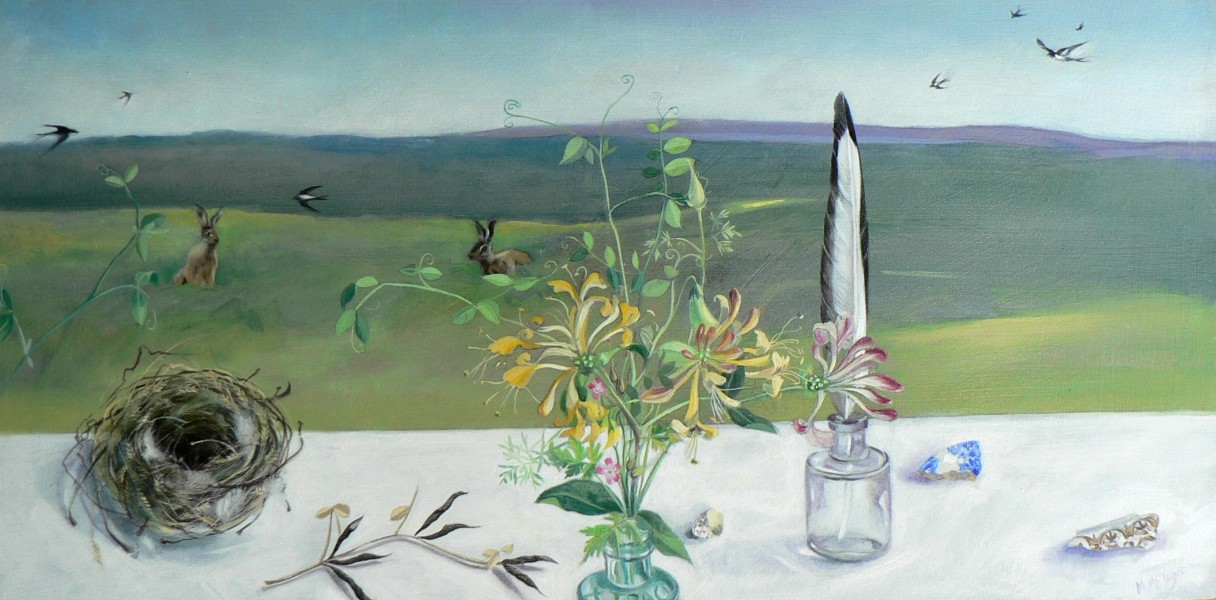 Moira McTague A honeysuckle kind of day, oil on board