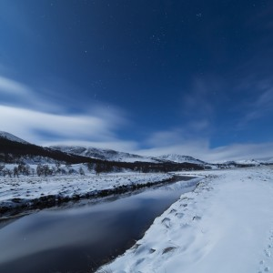 The Spey Valley is home to some beautiful Dark Sky locations, and looks stunning under moonlight