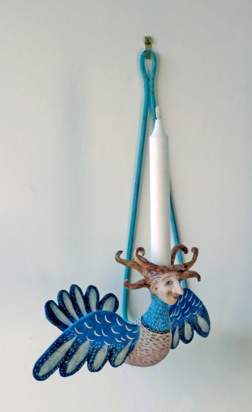 harpie flying candle sconce