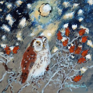 Ingebjorg Smith Oaktree Owl £150 image size 18x18cm approx - Copy