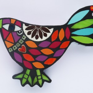 Small Bird (with Heart) H12cm W17cm Mixed Media Mosaic RRP £55