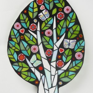 Tree H29cm W21cm Mixed Media Mosaic RRP £145