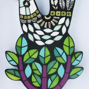 Winter Bird H25cm W15cm Mixed Media Mosaic RRP £115