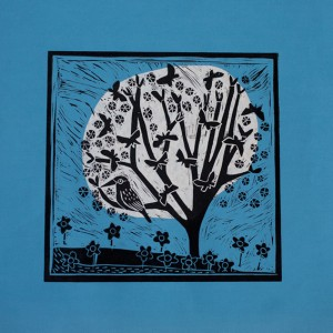 moon tree powder blue