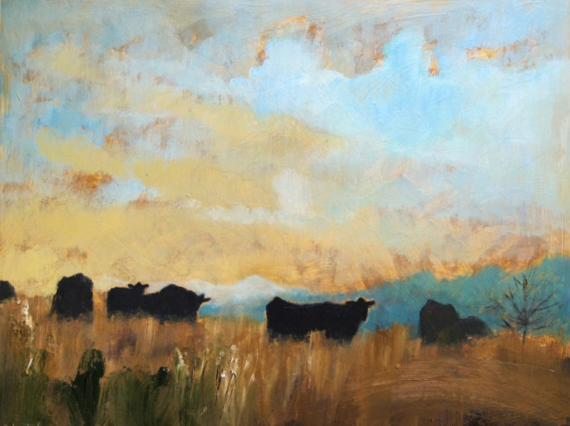 Helen Tabor Cows on a Spring Day