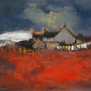 Helen Tabor Croft with White Barn