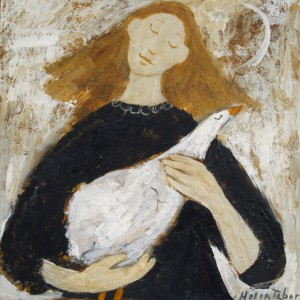 Helen Tabor Girl with Bird II