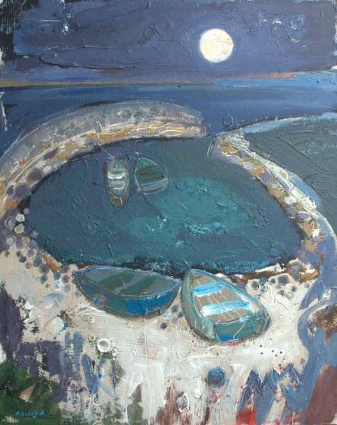 Harbour by moonlight 41x51cms