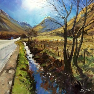 jsl - the road north 75x75cm