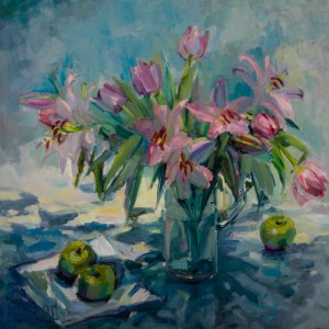 Drummond Pink Tulips 33x35 HxW in