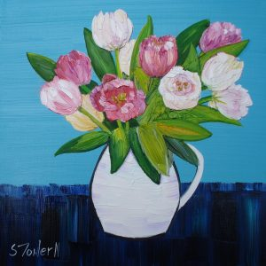 Painting of Pink Tulips