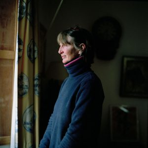 Mary McCall Smith at her farm in Pertrhshire, Scotland.