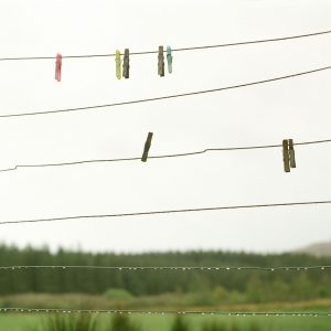 Minty's washing line, High Lee Croft, Bunessan. Isle of Mull, May 2015. From the series Drawn To The Land.