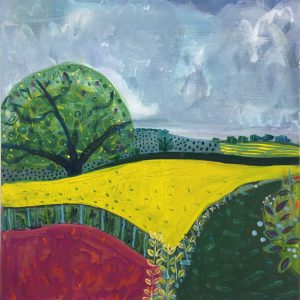 Hutton Bank - Acrylic on Board - 19in x 19in