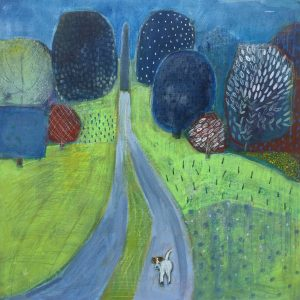 Pablo and the Needle - Yorkshire Arboretum - Acrylic on Board - 19in x 19in