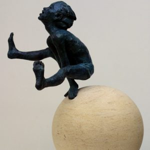 Over the Moon bronze on ancaster £2950 39 x 28 x 20cm