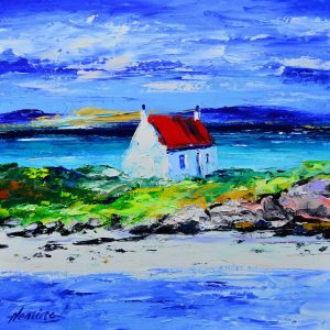 1.Spring Light, Cottage at Ardmhor, Barra