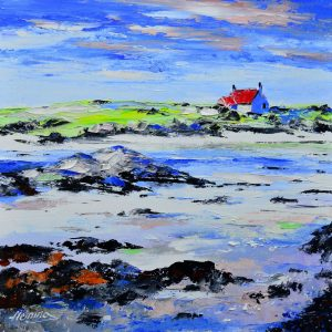 3.Cottage on the Shore, Spring, Ardmhor, Barra