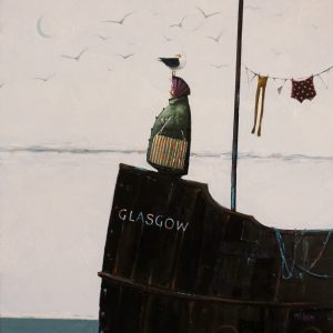 Miss Glasgow, The Bunting and Bloomers oil 30x30cm 61x61cm-2