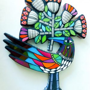 AA BIRD WITH BLOOMS