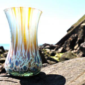 amber white with mauve original