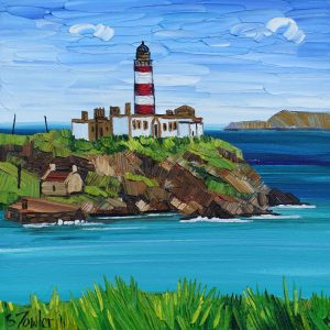 Painting of Scalpay Lighthouse Harris