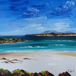 Blue Skies and Summer Waves Iona 50 x 50cm