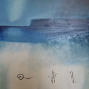 25. _Shore Notation-Skye. Oil on canvas on board. 92 x 97cm#4E0E