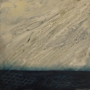 26. _Deep Waters-Djup_ Gesso w_ oil glazes on canvas. 32 x 32cm#44CE