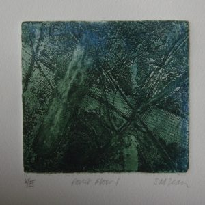 37. Forest Floor. AQT Etching. 26 x 26 (11 x 11) No Date av