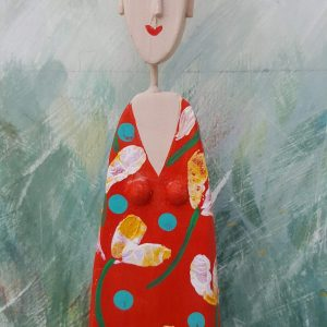 LM - WEE RED DRESS LADY