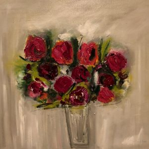 Valentines Posy, 16 inch, unframed, oil, £685