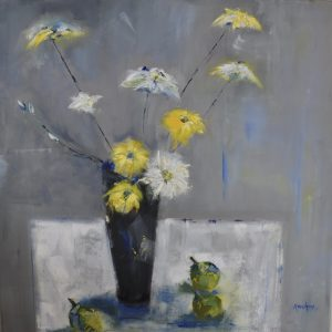 Yellow Flowers with Pears