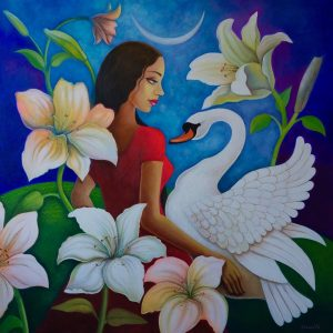 blossom of happiness 92cm x 92cm