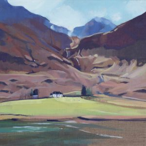 GLENCOE,SPRING SUN,30X30CM, OIL ON LINEN