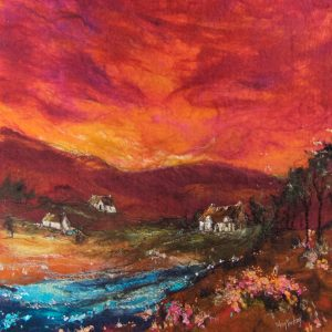MM18_45 RED SKY & BABBLING BROOK