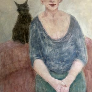 Joyce Gunn Cairns Woman and Cat