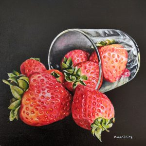 Strawberries oil on canvas 50x50cm
