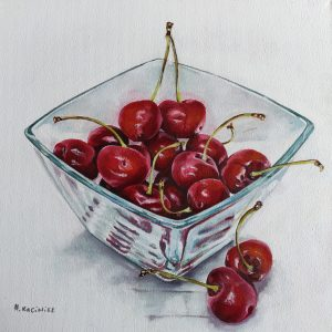 Summer Cherries oil on canvas 30x30cm