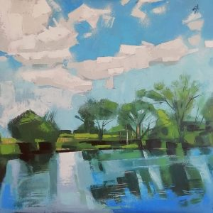 GWEN ADAIR The Nith at Dumfries 50 x 50cm £750