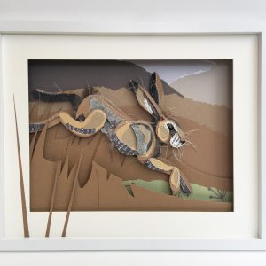 Leaping Hare Mixed Media 50 x 40 £160 Thrift Design