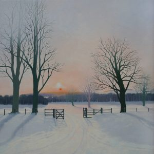 Winter Evening Walk 78 x 78cm