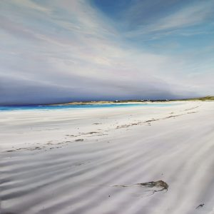 AY White 0320 60 x 60 Windblown Beach, Gott Bay Tiree