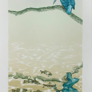 Colin Blanchard 'Fisherman' Linocut and Screenprint