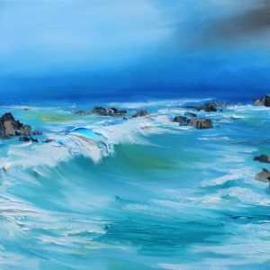 The swell of the Sea 60 x 30 cm oi