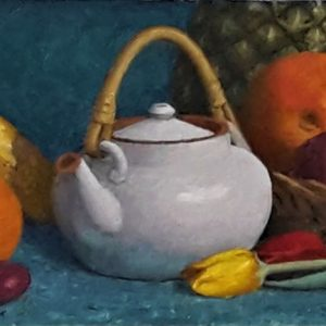 Teapot and Fruit