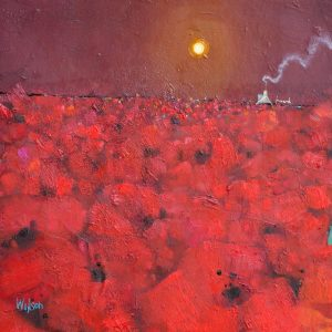 Wild Poppy Sea Oil 30x30cm 61x61cm
